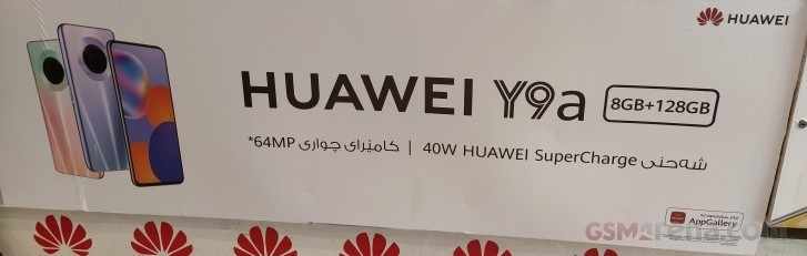 Huawei Y9a muncul di spanduk dengan spesifikasi utama