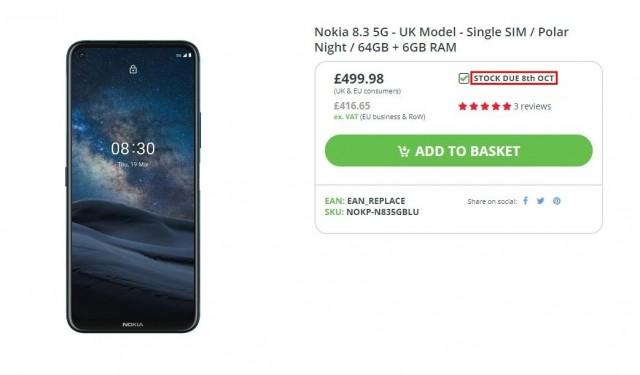 Daftar Nokia 8.3 5G