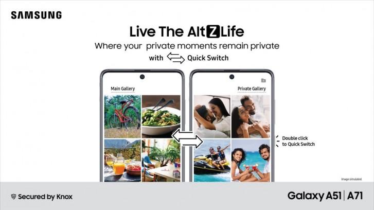 Samsung, Galaxy A71 ve A51 kullanıcıları için Hindistan'da özel bir mod olan AltZLife'ı tanıttı