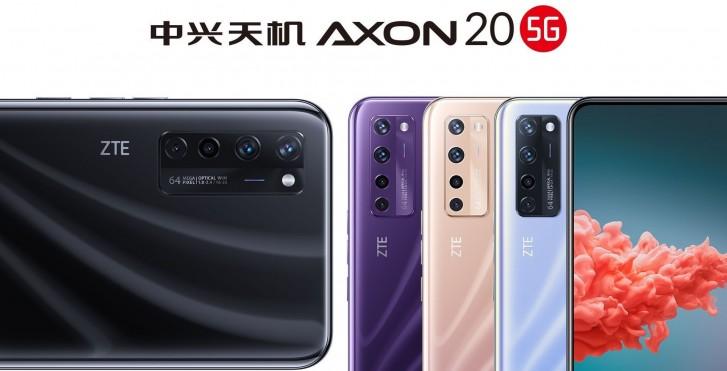 ZTE Axon 20 5G, en son resmi posterde üç yeni renkte görünüyor