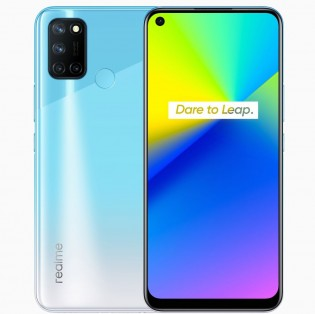Realme 7i in Fusion Blue color