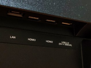 Connectivity ports at the bottom of the back of the Realme Smart TV