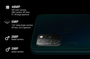 A 48 MP main and 5 MP ultra wide cameras