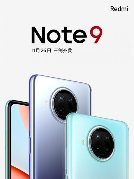 Seri Redmi Note 9 akan datang ke Cina pada 26 November