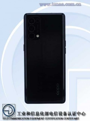 Oppo Reno5 Pro 5G images posted on TENAA's website