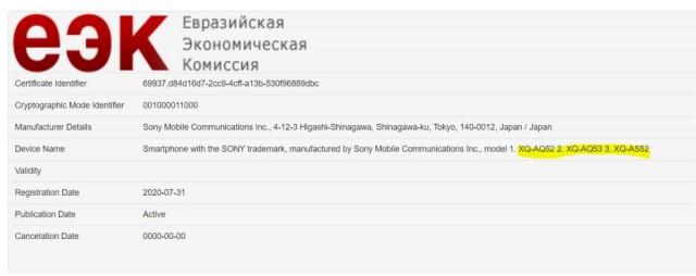 Sony Xperia 10 II Plus terdaftar di EEC