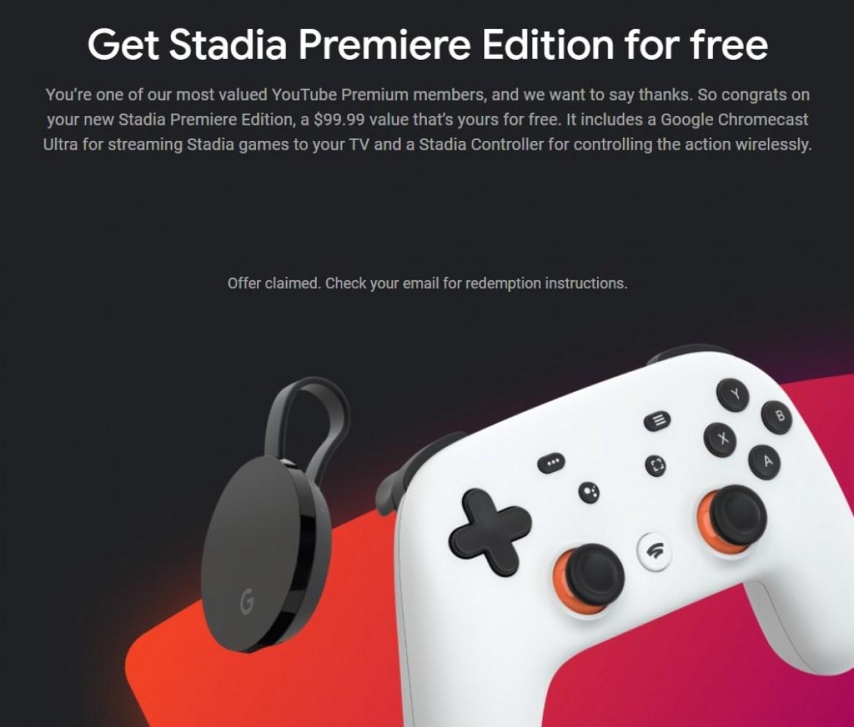 Free Google Stadio Gaming Kits For YouTube Premium Subscribers
