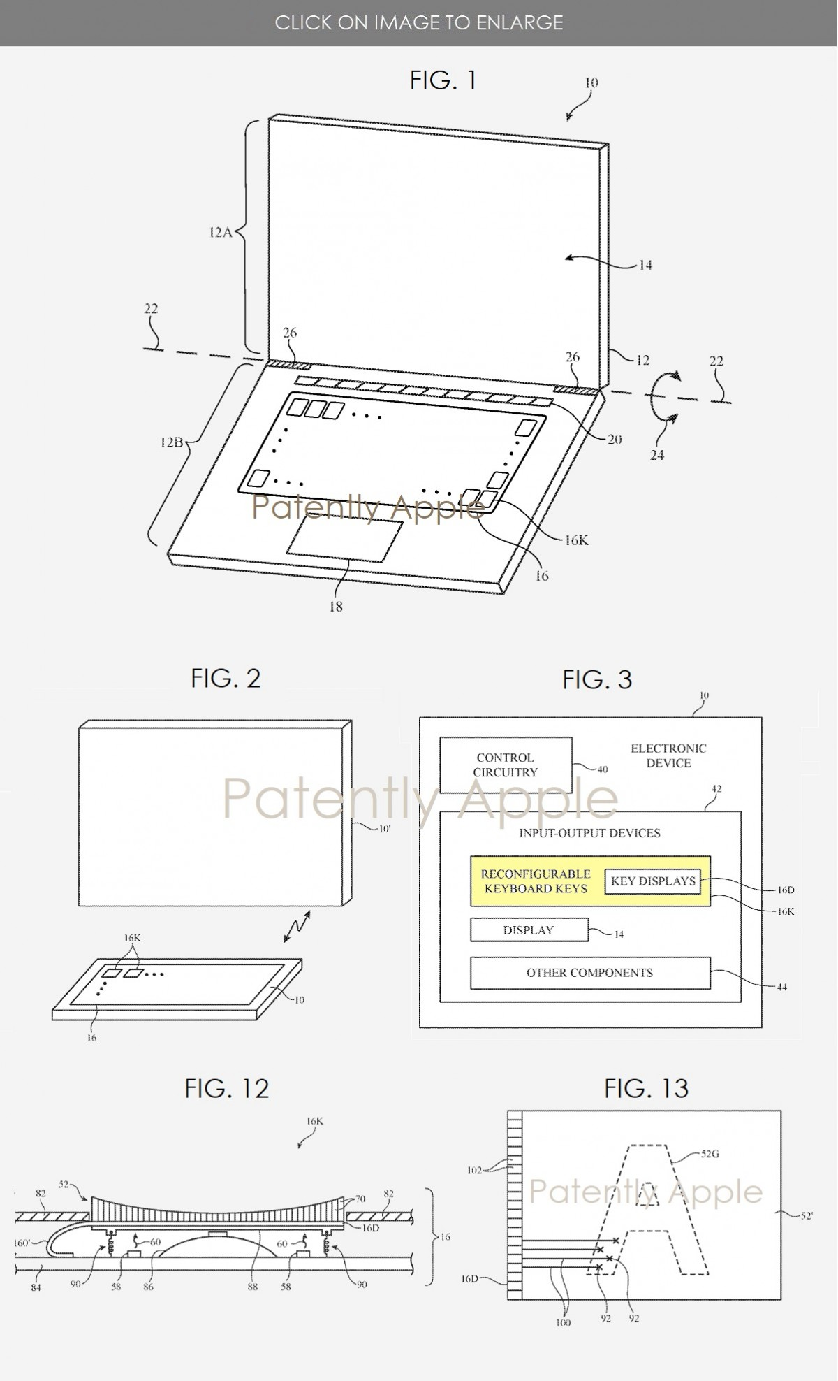 Apple Patents a MacBook Keyboard With Tiny Displays On Them