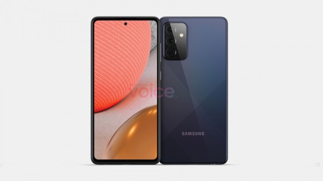 Samsung Galaxy A72 5G stars in shiny leaked renders