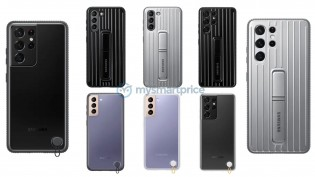 Galaxy S21 accessories: Silicone and Rugged Standing covers
