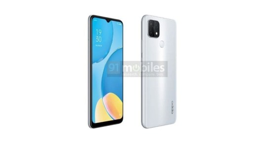 Leaked renders of the Oppo A15 show color options, teardrop notch