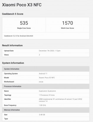 Google Play Console and Geekbench listings