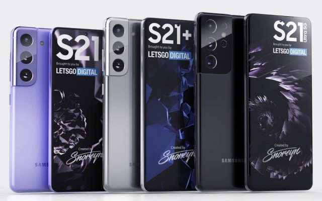 See the Galaxy S21 Ultra, S21+ and S21 in lovely, high quality renders