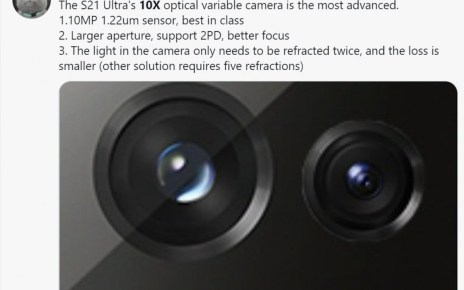 More Samsung Galaxy S21 Ultra zoom camera details surface