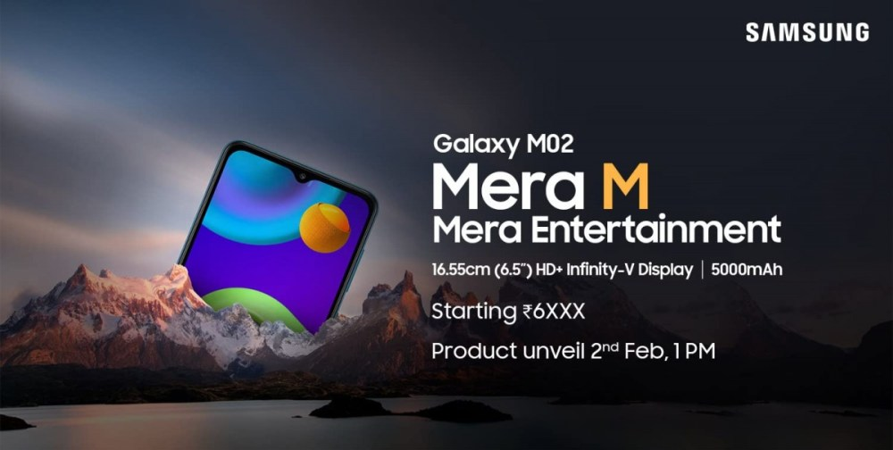 Samsung Galaxy M02 is coming to Amazon India on February 2, a cheaper M02s