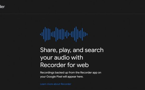Google's voice recorder app getting desktop interface via web