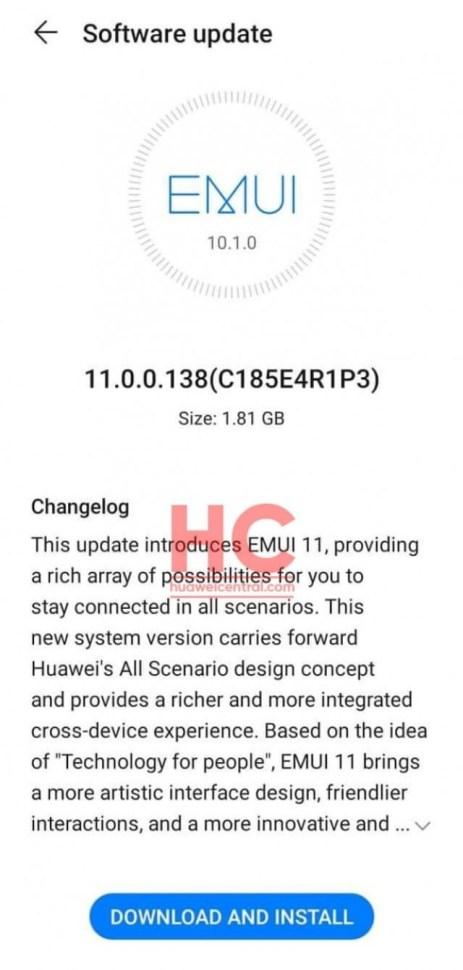 Huawei P30 and Mate 20 series get Global EMUI 11 build