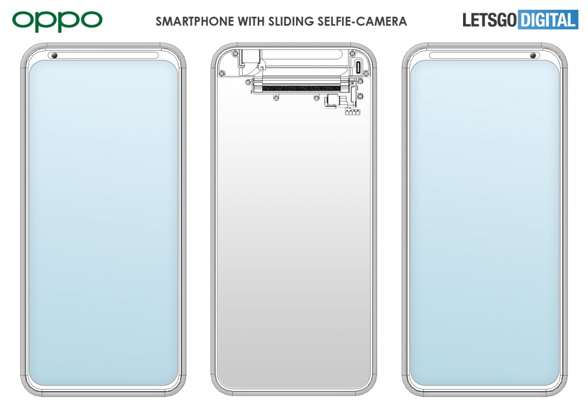 Oppo patents a smartphone with a selfie camera sliding sidways