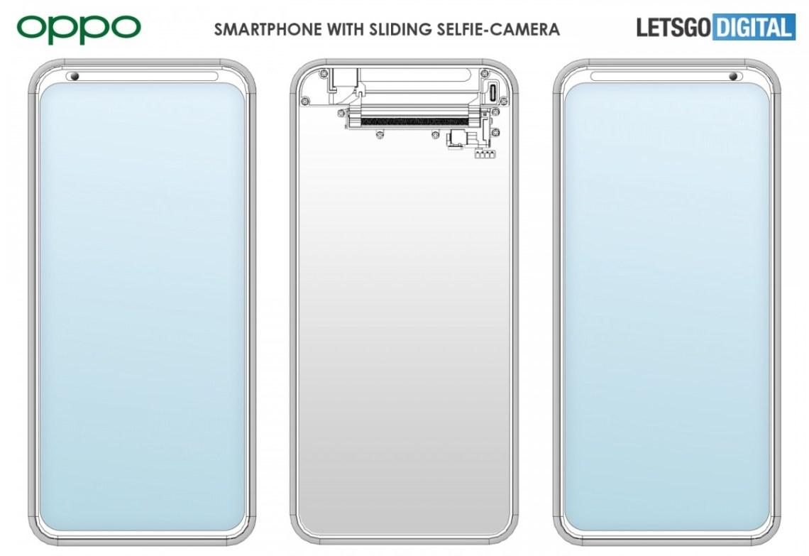 Oppo mematenkan smartphone dengan kamera selfie yang digeser ke samping