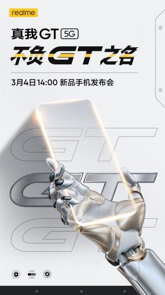 Realme GT 5G akan hadir pada 4 Maret