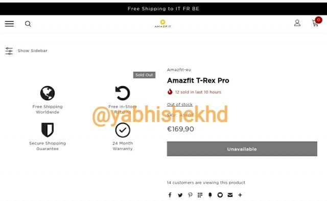 Amazfit T-Rex Pro price