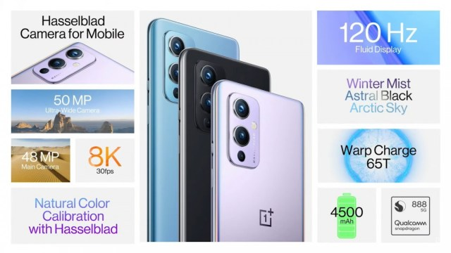 OnePlus 9 and 9 Pro unveiled with Hasselblad cameras, 120Hz display, upgraded charging