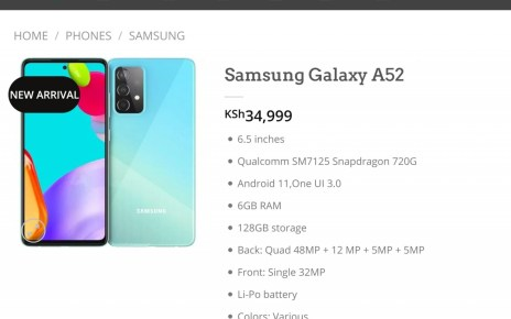 Unannounced Samsung Galaxy A52 appears in online store again, with price and ready to ship