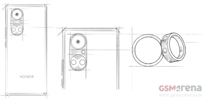 Honor 50 design sketch