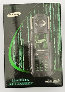 The Samsung SPH-N270 was a Matrix Reloaded tie-in