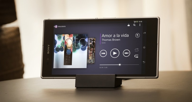 The 6.4'' 1080p Triluminos display on the Sony Xperia Z Ultra was a sight to behold