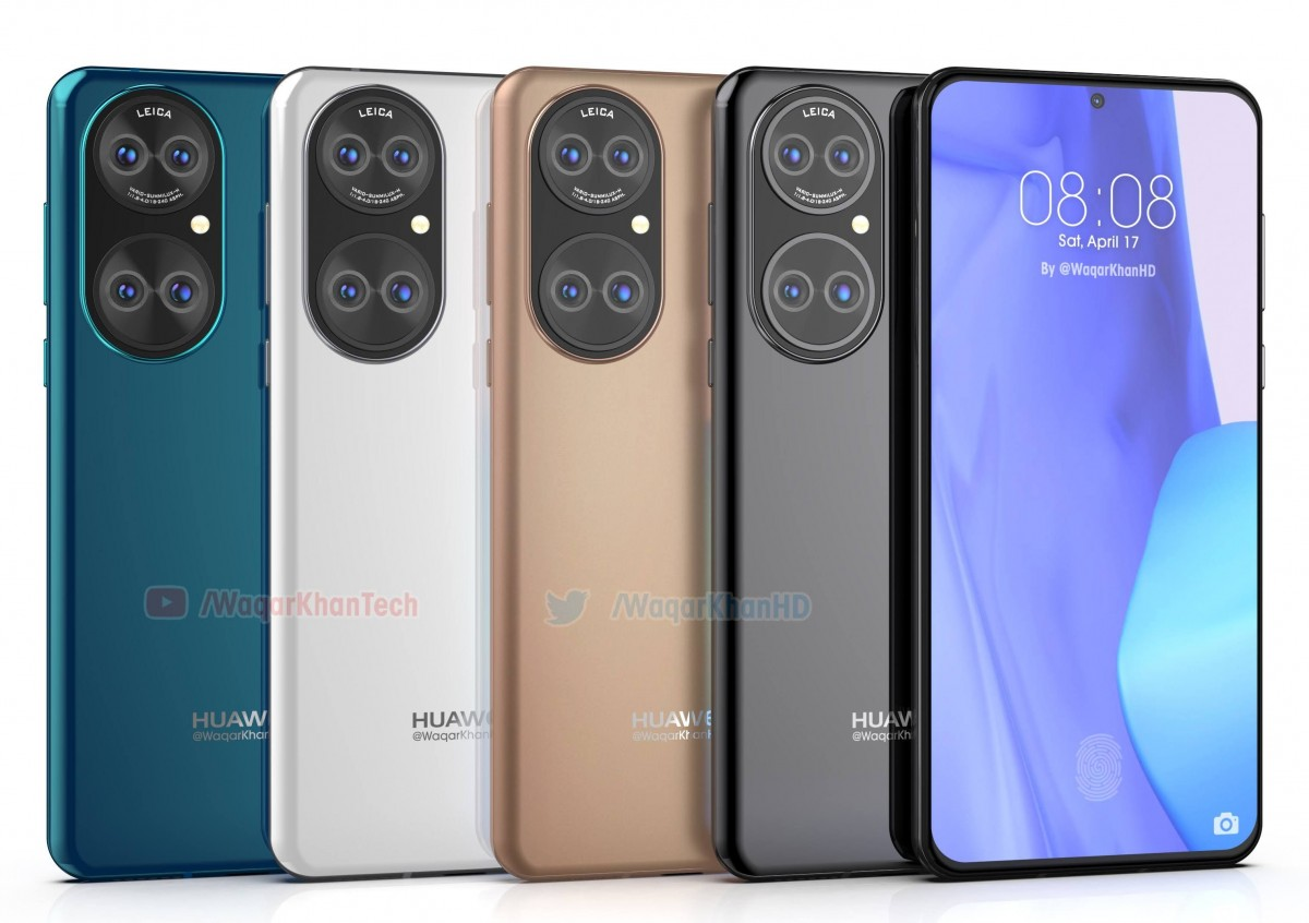 Huawei P50 leaks in high-quality renders