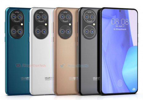 Huawei P50 leaks in high-quality images