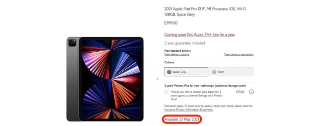 New iPad Pro and iMac with M1 will be available on May 21, British retailer reveals
