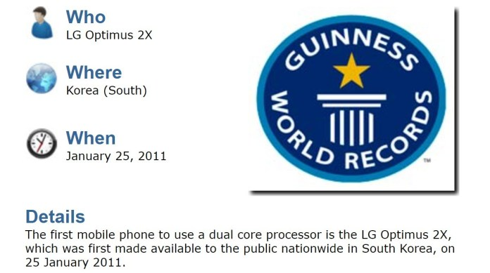 The LG Optimus 2X was the first phone with a dual-core processor