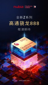 nubia confirmed that the next Z-flagship will be powered by the Snapdragon 888 way back in December