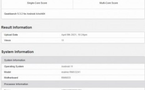 Realme 8 5G's key specs revealed by Geekbench