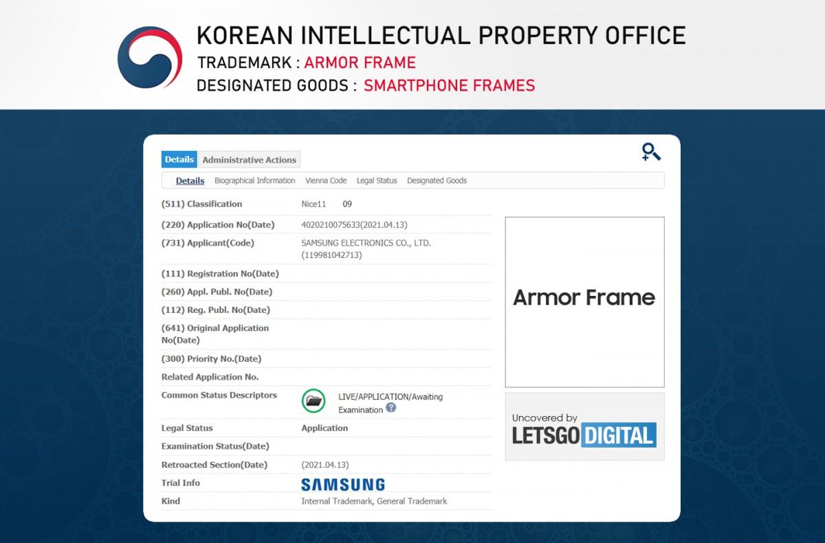 Samsung patents a super-strong frame for smartphones called Armor Frame