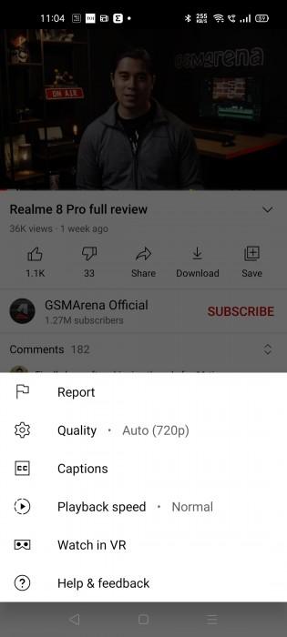 New video quality settings