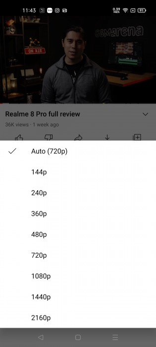 Old video quality settings