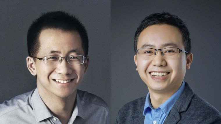 Zhang Yiming (left) and Liang Rubo (right)