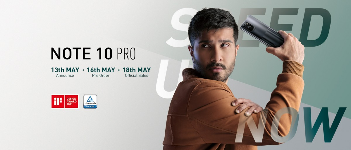 Infinix Note 10 Pro akan tiba pada 13 Mei