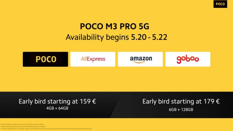 Poco M3 Pro 5G unveiled with Dimensity 700 and 90Hz display