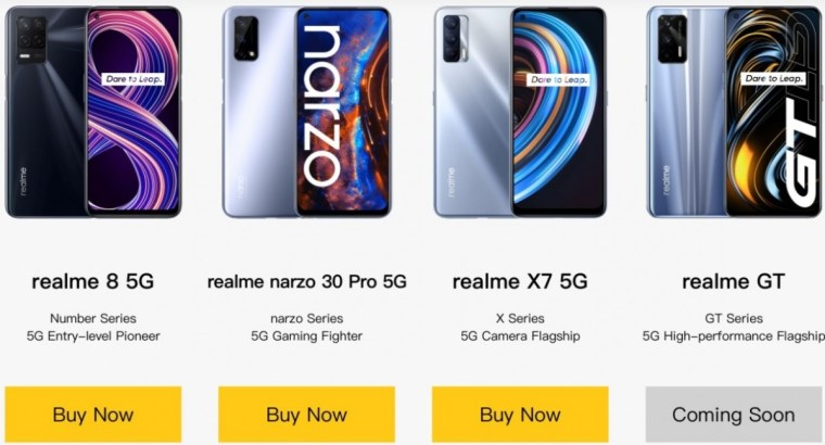 Realme GT 5G is coming soon to India