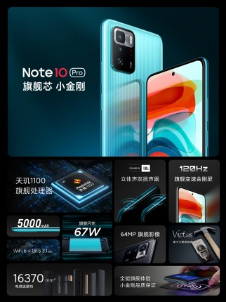 Redmi Note 10 Pro (China) key specs