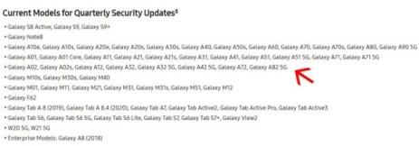 Samsung accidentally confirms the Galaxy A82 5G existence