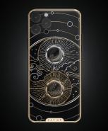 Desain iPhone 13 Pro (Maks) kustom Caviar: Matahari dan Bulan