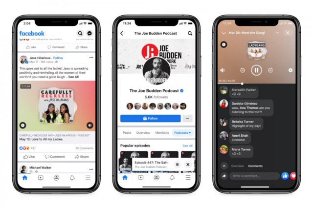 Facebook Live Audio Rooms and Podcasts launch in the US