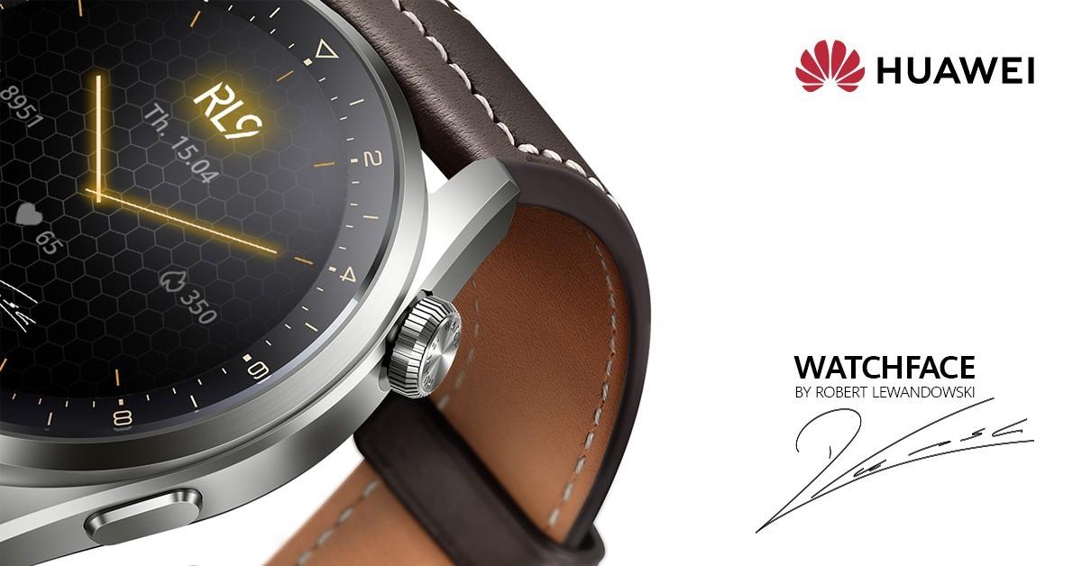 Huawei Watch 3 dan 3 Pro mendapatkan tampilan jam khusus Robert Lewandowski