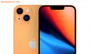 Render spekulatif Apple iPhone 13 menunjukkan jalur warna oranye baru