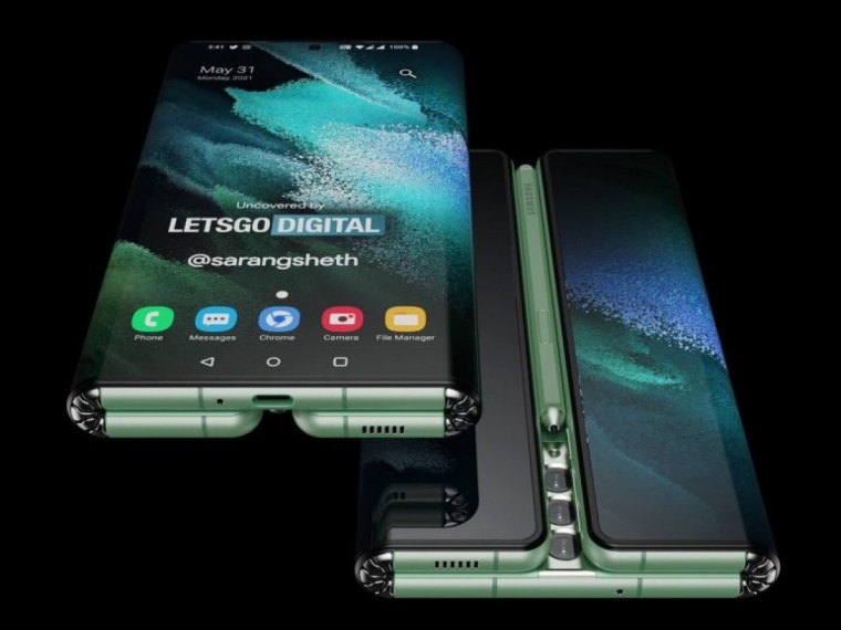 Samsung patents foldable with dual-hinges, dubbed 'Z Fold Tab' with S Pen space